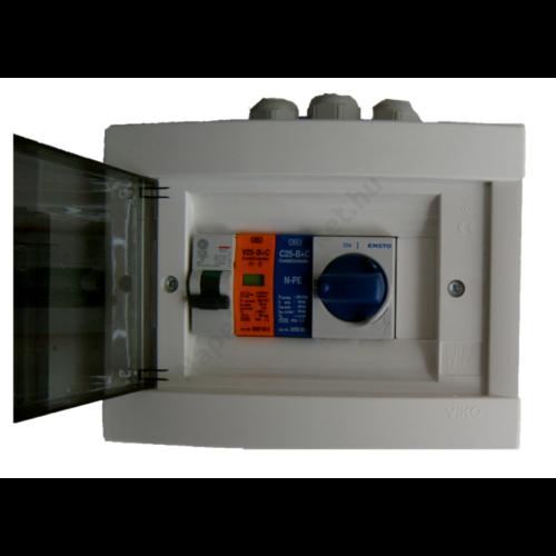 AC szerelvény doboz készre szerelve 3kW-ig 1 fázis