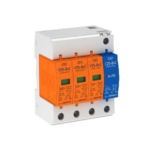 AC túlfeszültség védő modul V25-B+C 3+NPE